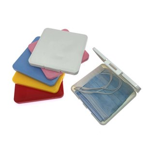 Portable Dustproof Face Shield Mask Storage Box Moisture-Proof Disposable Face Mask Cover Organizer Holder Mask Storage Case CCA12423 120pcs