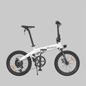 (AB Stok!) Himo Z20 Katlanır Elektrikli Moped Bisiklet Ebike 250w Motor 20 Inç Gri Beyaz Elektrik-Bisiklete Kadar Sıcak Dahil KDV