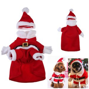 Dog Costume Christmas Dog Transformed Dress Santa Suit Classic Euramerican Pet Dog Christmas Clothes Pets Apparel Supplies 5 size MY-9855