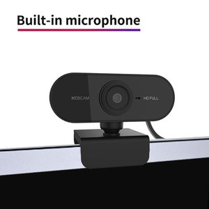 Hd 1080p Webcam Microcomputer Pc Webcam With Microphone, Rotatable Camera, Used For Live Video Call Conference Work