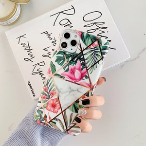 creative flower fashion ultra thin soft tpu custom design pattern imd electroplate laser luxury cell phone case for iphone 11 8