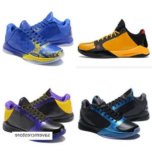 Nuevos Mamba Mamba Mamba 5s V Niños Zapatos de baloncesto Zoom 4 5 Protro Big Step Lakers Sneaker 5 zapatillas de deporte negro Mamba 2K