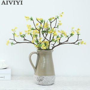 Artificial Pear Flower Flowering Branches Home Decoration Fake Flower Dry Branches Wedding Setting Vase