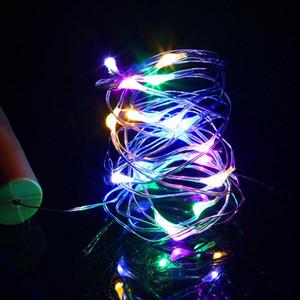 Discount 2m 20 LED Mini Bottle Stopper Lamp String Bar Decoration String Light Colorful Light Earth Color Full high brightness LED Strings