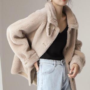 Winter Wool Coat For Women Warm With Belt Woolen Jacket Cashmere Coats European Fashion Outerwear