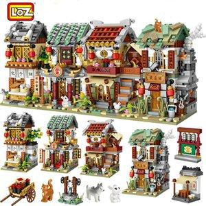 LOZ 2266PCS Mini Building Blocks Mini Street City Chine Street Chinoise Tradition Chinoise Architecture Modèle Brique Éducatif Enfants Jouets C1118
