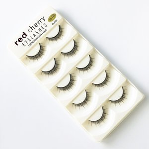 2020 RED CHERRY False Eyelashes Natural Long Eye Lashes Extension Makeup Professional Faux Eyelash Winged Fake Lashes Wispies