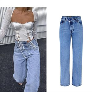 New Autumn Winter Irregular High Waist Denim Female Flare Jeans For Women Bell Bottom Fat Mom Jeans Wide Leg Skinny Woman