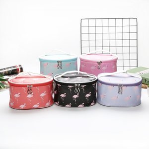 PU Travel Cosmetic Pouch Make Up Organizer Waterproof Wash Bag Cosmetic Bag Makeup Organizer Travel Round Toiletry Storage Bags 0787