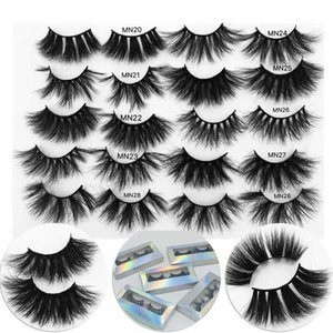 25 mm Mink Eyelashes Dramatic Long Mink Lashes Makeup Full Strip Lashes 25mm Maquiagem False Eyelashes 3D