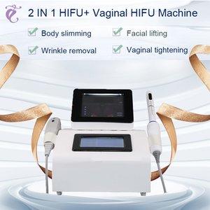 Professional high intensity medical hifu 10,000 shots hifu machine body face and vaginal HIFU 2 in 1 for women Free shipment
