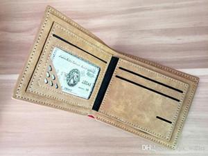 HBP Kingdom Hearts Wallet Wallet Sora Dibujos animados Monedero Patchwork Short Cuero Cash Note Case Dinero Notecase Cambiar Baraja Bolsa Titulares de tarjetas