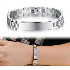 Id Cuban Bracelets Charm 316l Stainless Steel Bracelet For Men Women Hip Hop Jewelry Gifts Adjustable Length