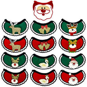 Pet Dog Bib Christmas Pet Saliva Towel Cats And Dogs Universal Scarf Santa Claus Holiday Party Decorations w-00467