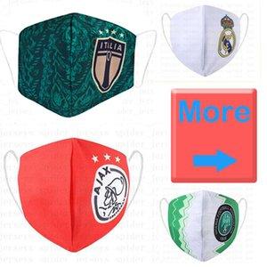 Máscara de fútbol de Madrid Real sostenible Cotton Flamengo use máscaras desechables reemplazables al por mayor de fútbol de fútbol Club Proteger