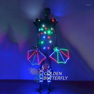 Illuminated Clothing LDE Luminous Dresses Suits Glowing Light Costumes Women Ballroom Dance Dress Performance Dress Accessories1