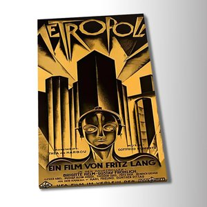 Metropolis Movie Poster Canvas Paintings Poster Print Wall Art for Living Room Home Decor