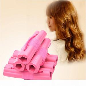 New Fashion 6pcs Magic Foam Spugna Spugna Capelli Bigodino fai da te Capelli ondulati Viaggio Casa Uso Soft Hair Bigodel rulli Strumenti di styling