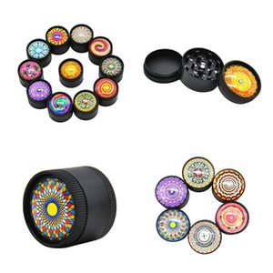 Colorful 3D Metal Grinder 30mm 50mm 3 Layers Camouflage Herb Grinder Pollen Presser Tobacco Grinders Smoking Accessories Fast Shipping Way