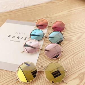 New 2020 Women Round Sunglasses Fashion Brand Designer Metal Frame Pink Sun Glasses Retro Female UV400 Sunglass Eyewear