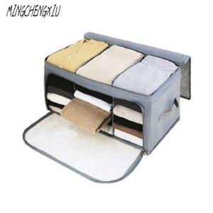 Non-Woven Family Save Space Organizador Bed Under Closet Storage Box Clothes Divider Organiser Quilt Bag Holder Organizer Boxes Z1123