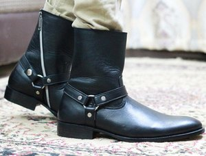 Men's Retro Multiple Buckle Retro Ankle Boots-Black Friday Brogue Shoes Spring Vintage Classic Male Casual HA179