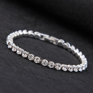 Simple Bracelet Female Sweet Crystal Zircon Day Girlfriends Silver Plated Hand Jewelry Wild Diamond Bracelet Fashion Jewelry Supply
