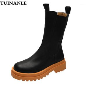 Tuinanle Women Boots Autunno Arancione PU Moto Stivali Moto Ragazza Frenata Scarpe da donna impermeabile Scarpe donna Calzature donna Chaussures1