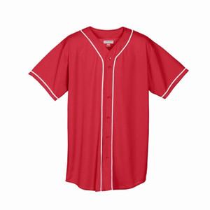 5377 543 545 449 Blank personalizzato Baseball Jersey Uomo Donne Dimensione S-3XL Bianco Bottone Down Pullover