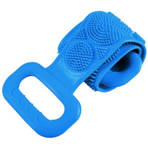 Silicone Brush Belt Towel Shower Flexible Home Bathroom Rub Back Mud Peeling Shower Scrubber Tool Clean Body Skin Care