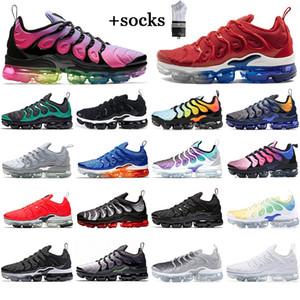 Con calcetines gratis zapatos de carrera de alta calidad tn plus mujeres geométrico activo fucsia negro blanco juego real entrenadores gris deportistas zapatillas deportivas