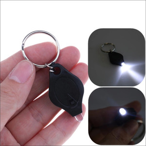 Outdoor Camping Emergency Key Ring Light Plastic ABS Mini Keychain Squeeze Light Micro LED Flashlight Torch