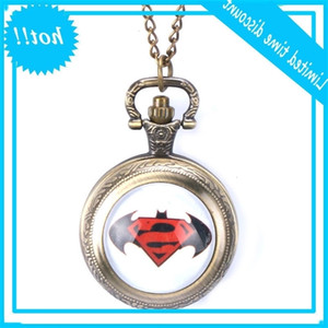 Famous brand Hunter Superman anti cool Batman woman Quartz Pocket Watch Necklace Gift Pendant