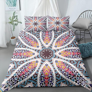 Bohemian 3D Comforter Bedding Sets Mandala Duvet Cover Set Winter Bedspread Pillowcase Queen King Size Bed Clothes