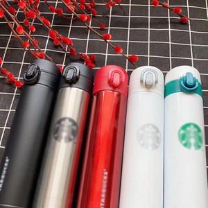 Coffee Travel Cup Cup 400ml Starbucks Бутылки из нержавеющей стали из нержавеющей стали Бутылка с водой Двойная стена изолированные автомобили пивные чашки кофе кружка для бесплатного DHL