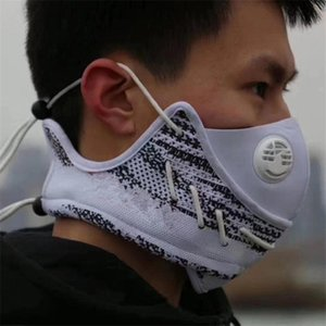 Knitted Kanye Cycling Party Mask with White Valve Face Mask Knit Outdoor Sports Ski Sneakers Mask Reusable Christmas Designers Gift F120302