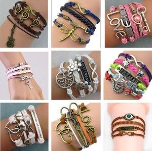 2021 Infinity Bracelets Gioielli Misto Misto Lotti Infinity Charm Bracciali Silver Lotti Stile Pick per donna e uomini