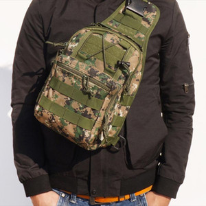 Tactical Shoulder Bag Sling Pack Army Camping Hiking Bag Outdoor Sports Chest Travel Trekking Hunting