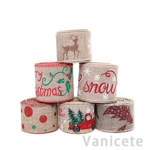 200 cm Keten Şerit Noel Hediye Kutusu Kurdela Parti Kaynağı Noel Yay Şerit Yüksek dereceli Noel Ağacı Süslemeleri 200 adet T1I3101