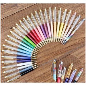 students colorful crystal ball pens diy blank ballpoint pen school office signature ballpoint pen bh2542 tqq