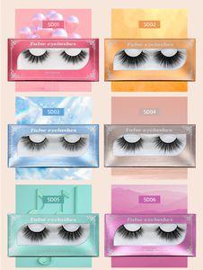 5D Nano Mink Eyelashes Super Soft Light Thick Long Lasting Faux Mink Lashes Natural Dramatic Volume Eyelashes Extension 3D False Eyelash