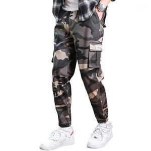 2020 Mens Joggers Pantalones Spring Camo Camo Pantalones de carga Hombres Jogger Harem Camuflaje Streetwear Bolsillos Pantalones Hombres 4XL W3111