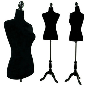 Female Mannequin Clothes Torso Clothing Dress Form Display with Tripod Stand