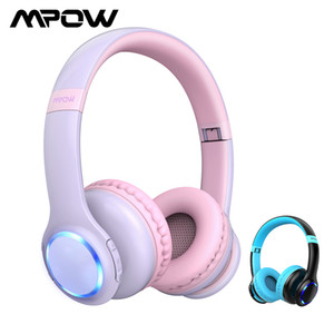Mpow CH9 Kids Headphones Foldable Bluetooth Headphone With Mic LED Light 85dB Volume Limit Headset For Boys Girls Teens Children Y1128