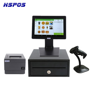 HSPOS NewSest 12InCH All In One POS Cash Register Free Android System RK3288 2GB / 8G