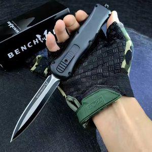 BenchMade BM A017 Нож прямо из двойного фронта автоматического ножа D2 Blade Camping Tactical BM 3551 3400 4600 3310 7035 3300