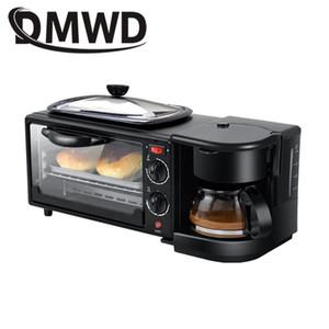 DMWD ELECTRIC 3 in 1 Frühstücksmaschine Multifunktions Mini Tropte Amerikanische Kaffeemaschine Pizzaofen Egg Omelette Bratpfanne Toaster