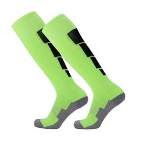 Hot Sale Color Stripe Professional Sports Soccer Socks High Knee Long Stocking Breathable Football Sock For Adult