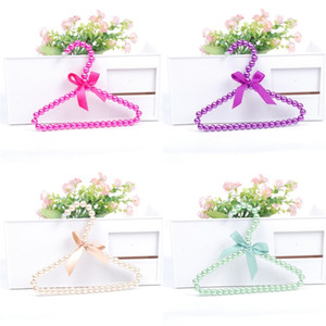 Stainless Steel Pet Coat Hanger Artificial Pearl Decorate Exquisite Manual Clothes Rack Dogs Cat Originality Stand Hot Sale 3 8ca F2