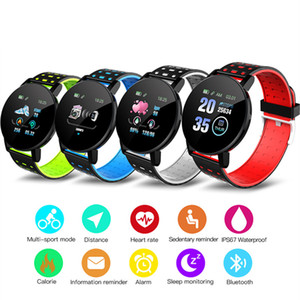 119 Plus Smart Bracelet Fitness Tracker ID119 Watch Heart Rate Watchband Smart Wristband 119Plus For Cellphones With Box Fitbit MI